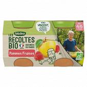 Blédina les récoltes bio pommes fraises dès 6 mois 2x130g