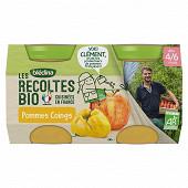Bledina les récoltes bio pommes coings 2x130g