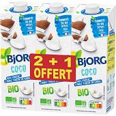 Bjorg boisson coco lot 2+1 3x1l