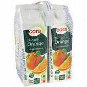 Cora pur jus orange brique 4x1l
