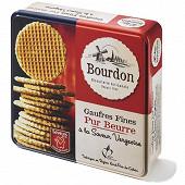 Biscuiterie bourdon boite metal gaufres fines pur beurre à la vergeoise 900g