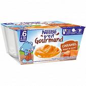Nestlé p'tit gourmand crème dessert caramel dès 6 mois 4x100g