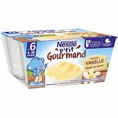 Nestlé p'tit gourmand crème dessert vanille dès 6 mois 4x100g