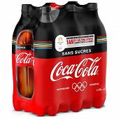 Coca-Cola sans sucres pet 6x1.75L contour JO