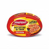 Saupiquet rillettes de thon au poivron 115 g
