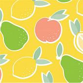 Serviettes x20 lemon & co sunny 33x33cm 3 plis