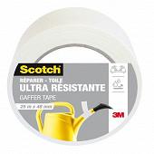 Scotch réparer toile ultra résistante blanche 25mX48mm