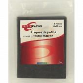Trefilaction plaque feutre marron X6