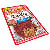 Cochonou rosette grandes tranches au goût intense -25% de sel 100g