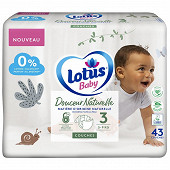 Lotus baby douce nature 43 couches T3