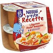 Nestlé p'tite recette légumes poulet basquaise dès 15 mois 2x200g