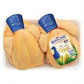 Maître Coq poulet jaune nourri au maïs sous film x2