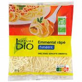 Nature bio emmental râpé au lait pasteurisé bio 100 g