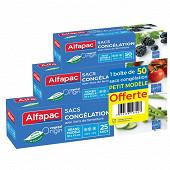Alfapac sacs congélation à lien en lot de 3  : gm + mm + pm (pm offert)