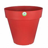 Riviera bac soleilla rond 30 cm rouge