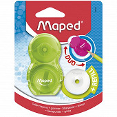 Maped taille crayon gomme loopy translucide 1 trou + recharge