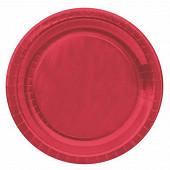 Cora assiettes x10 rouge metallic ronde 23cm