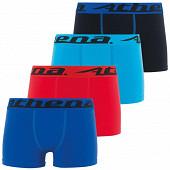 Lot de 3 boxers + 1 offert Athéna 2161 BLEU/ROUGE/TURQ/NOIR 12 ANS