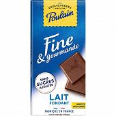 Poulain fine gourmande lait 2x100g