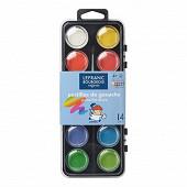 Lefranc&bourgeois Color & co boîte de 12 pastilles diametre 28 mm + 1 pinceau