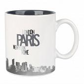 Mug grès 60cl Design Paris gris