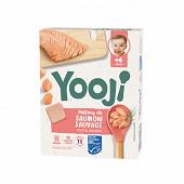 Yooji saumon MSC haché cuit et surgelé dès 6 mois 120g (12 galets de 10g)
