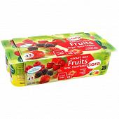 Cora yaourt aux fruits rouges avec morceaux 8x125g