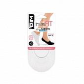 Lot de 2 paires de protège pieds spécial basket invisifit Dim BLANC T39\42