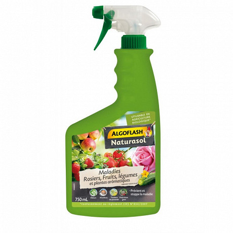 Algoflash naturasol maladies rosiers, fruits, légumes & plantes aromatiques - prêt a l'emploi 750 ml