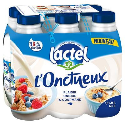 Lactel Lactel lait demi écrémé onctueux uht bouteille 6x1l