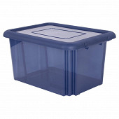 Funny box avec couvercle bleu profond acidulé 55l