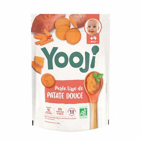 Yooji purée bio 4 mois et plus patates douces 480g (24 galets de 20g)