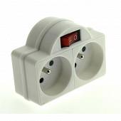 Promelect biplite 16a + t avec interrupteur