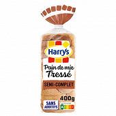 Harrys pain de mie tressé semi complet 400g