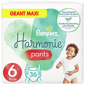 Pampers harmonie pants couches-culottes taille 6 - 36 culottes 15kg+