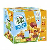 Pom'potes sans sucre ajouté pomme, pomme cerise, pomme banane, pomme mirabelle