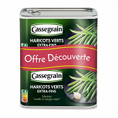 Cassegrain haricots verts extra fins sélection cueillis et rangés main 2X1/2 4440g