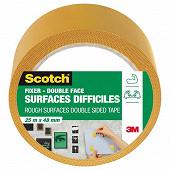 Scotch double face surfacesdifficiles 25MX48MM SCOTCH