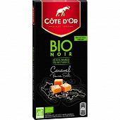 Cote d'or bio noir caramel beurre salé 90g