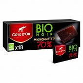 Côte d'or mignonnettes noir bio 70% 180g