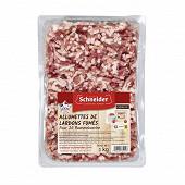 Schneider lardons fumés allumettes viande porc fravçais 1kg