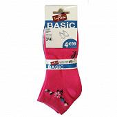 Lot de 5 paires de socquettes invisibles fantaisies Influx Basic FLEURS/ARABESQUES 37\41