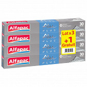 Alfapac Alu plus gaufré 30m lot de 3+1 gratuit