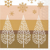 20 Serviettes 33x33cm 3 plis snowtrees