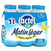 Lactel matin léger lait sans lactose 1.2% m.g 6x1l