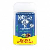 Le Petit Marseillais douche extra doux pin 3x250ml offre familiale