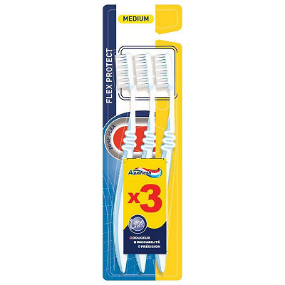 Aquafresh Aquafresh brosse à dents flex medium x3