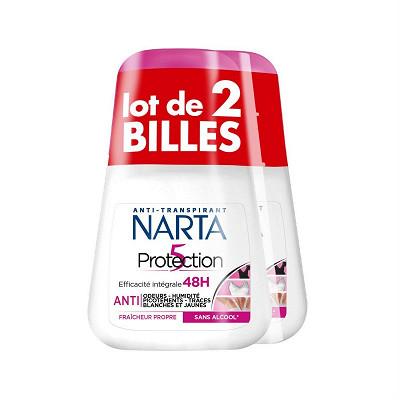Narta Narta déodorant bille protection 5  2X50ML