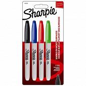 4 marqueurs Sharpie fine assortis std