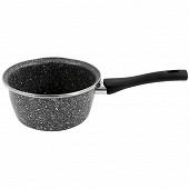 Casserole induction 20 cm aspect granite acier émaille, manche bakelite